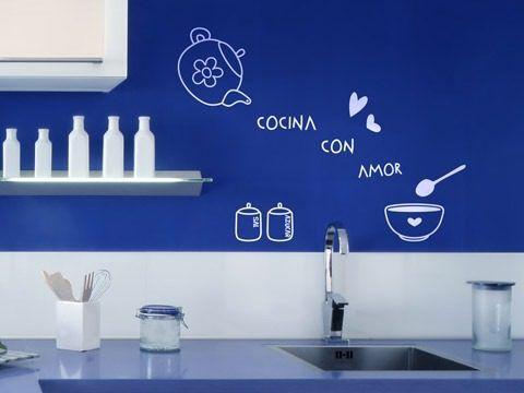 Decoración de Cocina con Vinilos Adhesivos - Para Más Información Ingresa en: http://imagenesdecocinas.com/decoracion-de-cocina-con-vinilos-adhesivos/