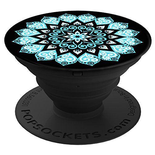 287f0a40071ea6 PopSockets  Expanding Stand and Grip for Smartphones and Tablets - Peace  Mandala Sky