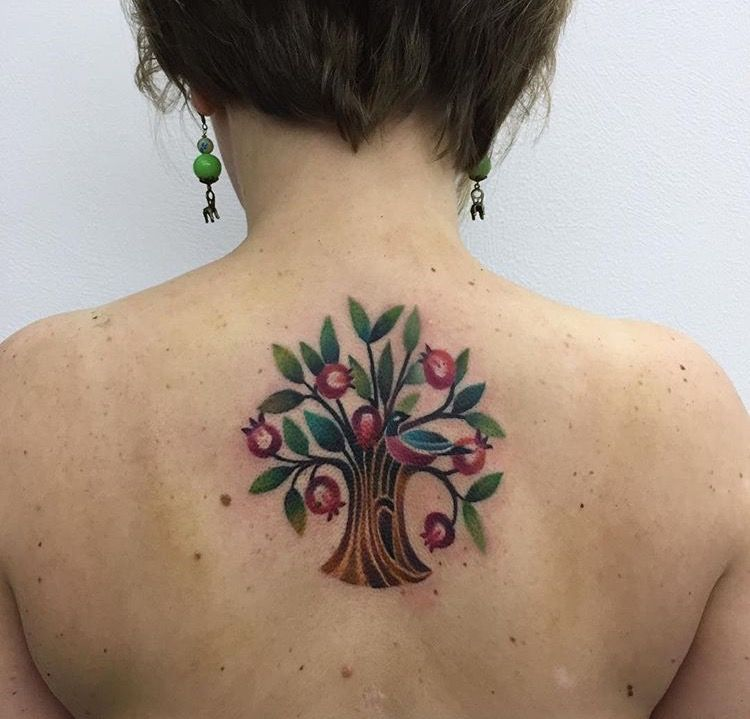 Knyazeva Pomegranate Tree Tattoo Pomegranate Tattoo Tattoos