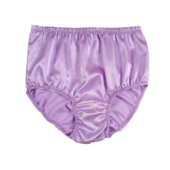 367baa346f Luxurious Sissy Silky Knickers Full Briefs Panty Womens Underwear Shiny  Silk Satin Panties Wedding H