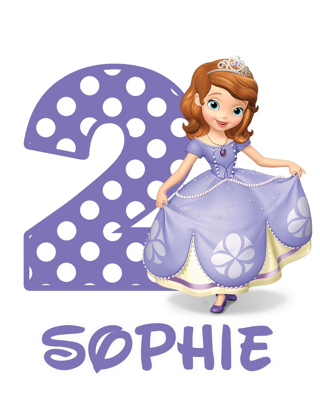 Princess Sofia the First Birthday Iron On Transfer Decal | Princess ...
