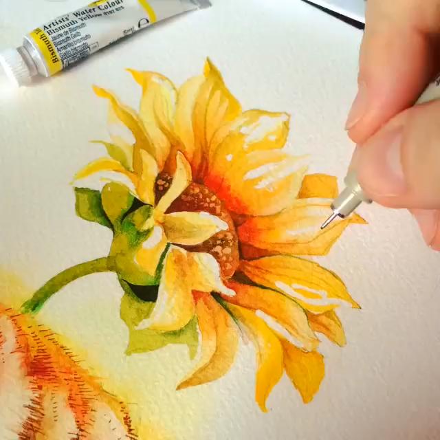 Flower Watercolor Painting Tutorial