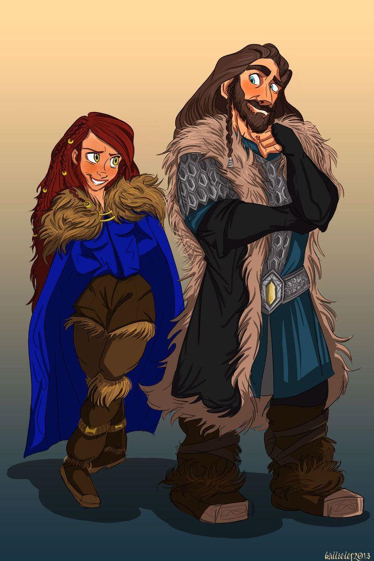 Aveya and Thorin by kallielef on DeviantArt | hobbit in 2019