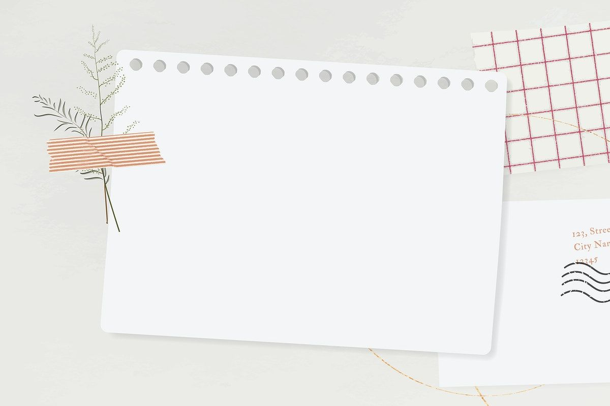 premium vector of blank paper with washi