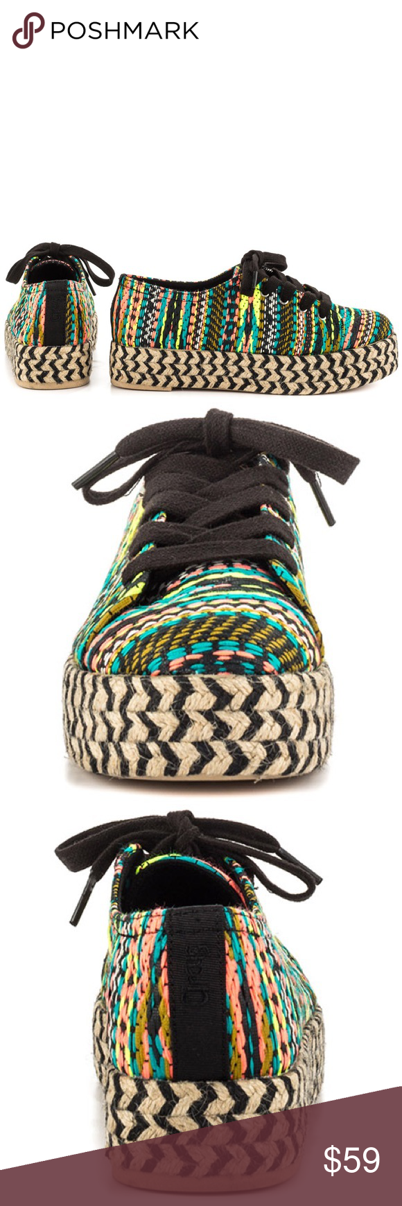 6b9f374bc06fca Circus by Sam Edelman Brandon Platform Sneakers Bring out your spunky side  in the Brandon. This vibrant sneaker features a black and white canvas  printed ...