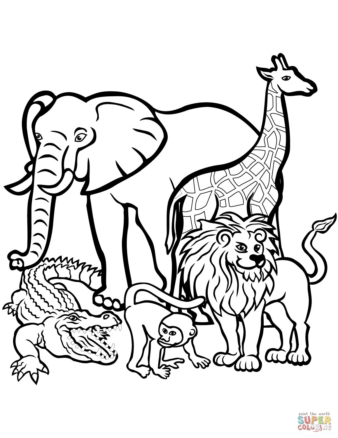 Beautifull Wild Animal Coloring Pages Image Zoo animal