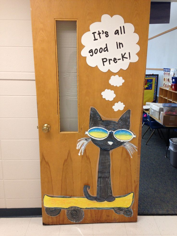 Hip Classroom Decor ~ Pete the cat christmas door decoration