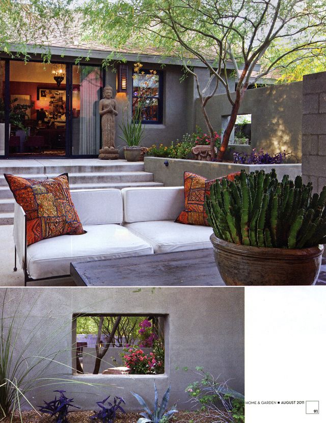 Phoenix Home of interior designer Georgia Bates ASLA Steve ... on Outdoor Living Space Builders Near Me id=82017