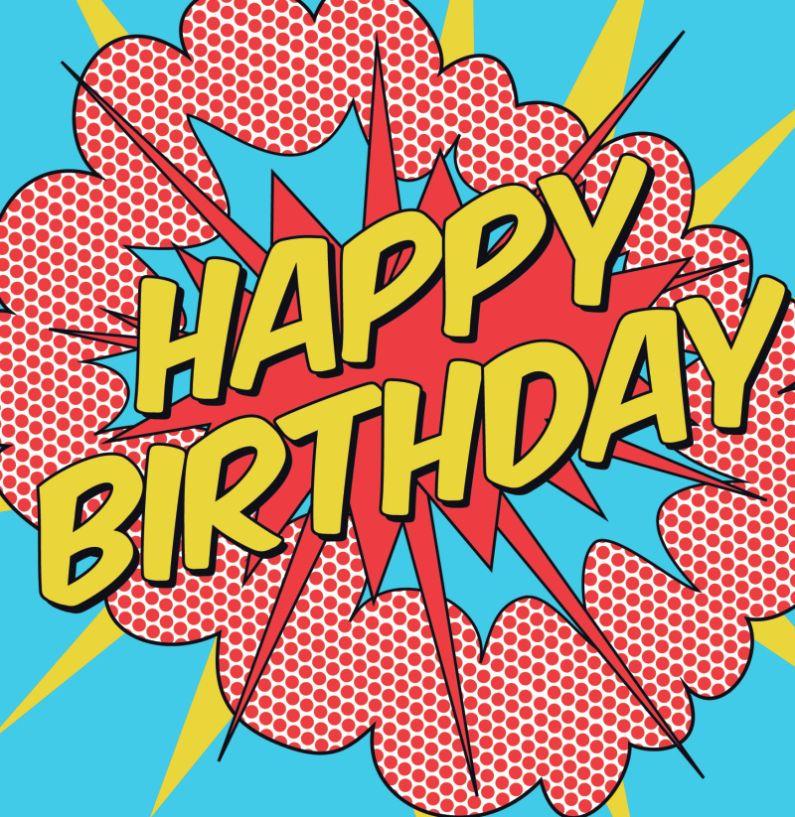 Поздравления в стиле комиксов на день рождения