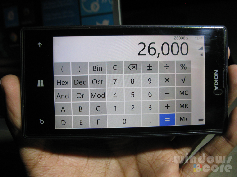 How to access advanced (scientific) Calculator using the