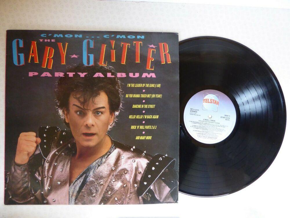 C Mon C Mon The Gary Glitter Party Album Vinyl Lp 1987 Star2310 Joker Glam Glitter Party Album Vinyl