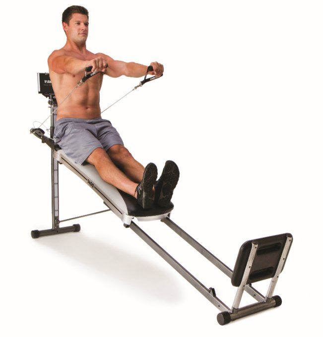 Bowflex Revolution Folded Up Dimensions: Total Gym 1400 Deluxe Home Fitness Exercise Machine