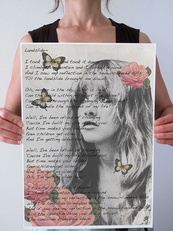 Stevie Nicks Landslide Gypsy Butterflies By Patricianprints