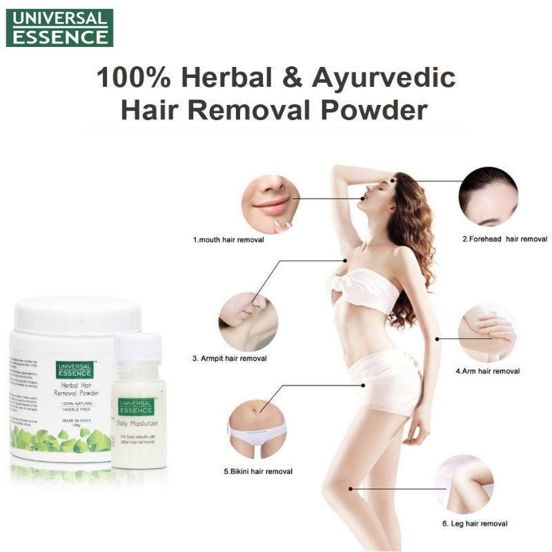 Don T Have The Time For Parlors And Salons This Natural Hair Removal Powder From Universalessence Is Undoubtedly A Herbal Hair Leg Hair Removal Hair Removal