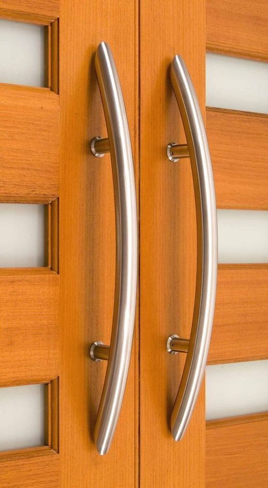 36 Curved Pull Door Handle Marine Grade 316 Stainless Steel