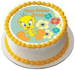 Strange Tweety Bird Edible Birthday Cake Topper Or Cupcake Topper Decor Funny Birthday Cards Online Kookostrdamsfinfo