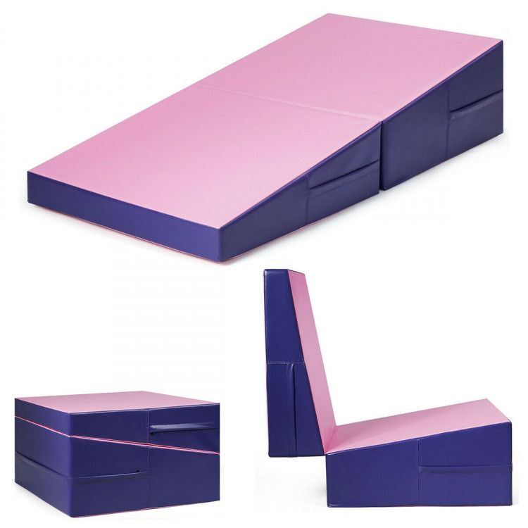 Folding Incline Tumbling Wedge Gymnastics Exercise Mat Gym Mats General Purpose Athletic Equipment Athletics Sp In 2020 Mat Exercises Gymnastics Pad Gymnastics