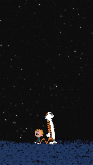Calvin Hobbes Space Wallpaper Iphone Papers Patterns In 2019