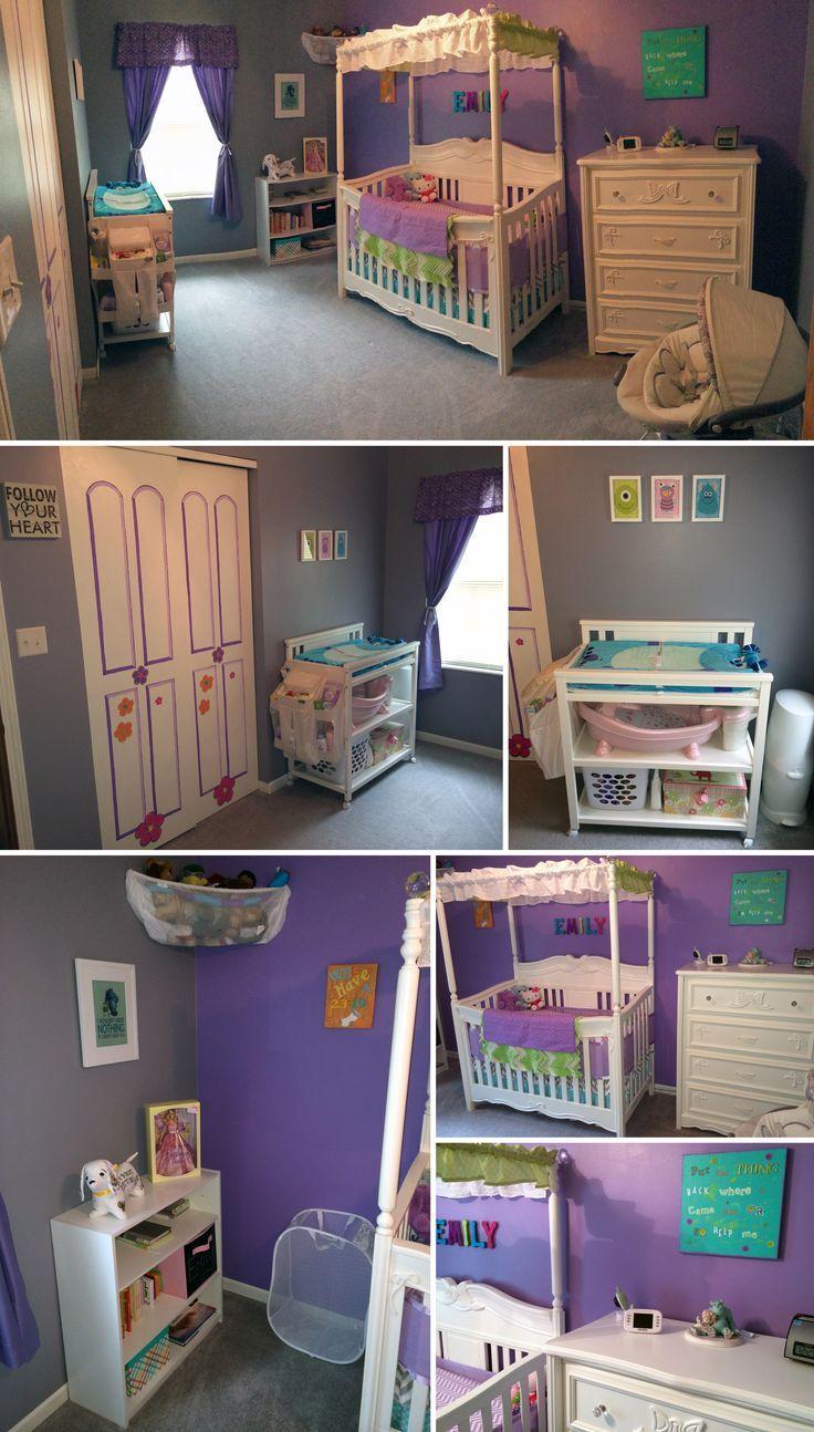 Monster S Inc Themed Nursery That I Put Together For My Baby Girl Baby Nursery Nursery Themes Baby Room Decor