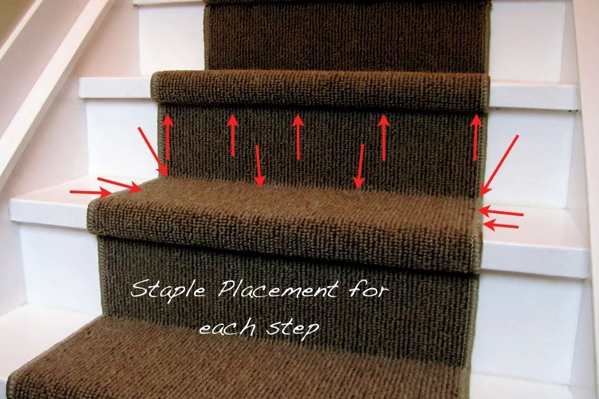 Superior DIY Instructions For Installing A Carpet Stair Runner