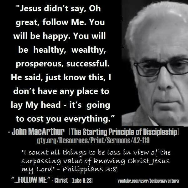 John Macarthur Quotes Adorable Christian Quotes  John Macarthur Quotes  Following Jesus