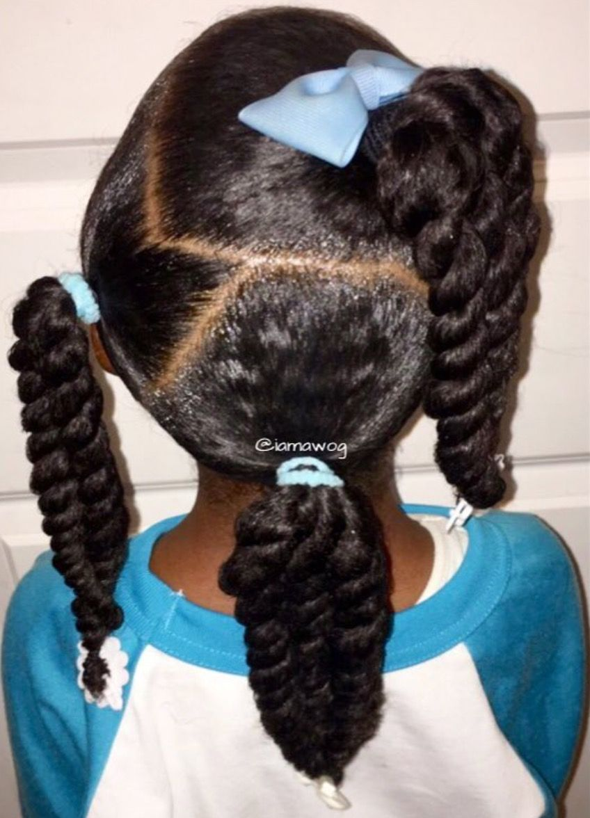 Bows And Ponytails Natural Hairstyles For Kids Lil Girl