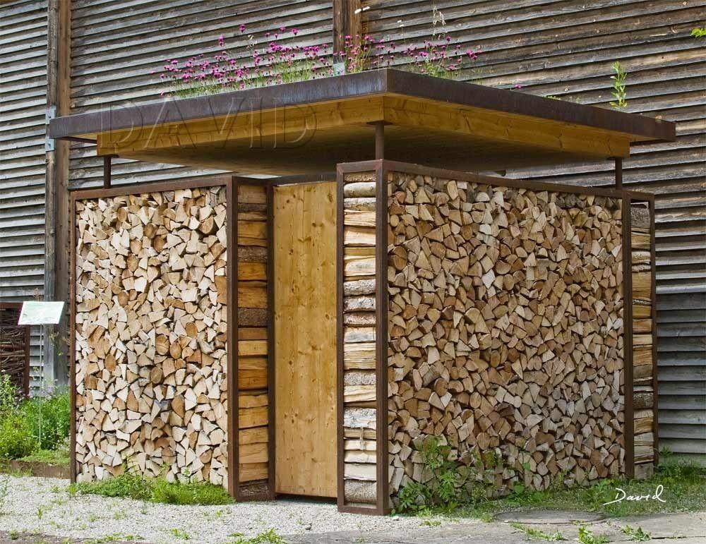 Totholz Holzstapel Holzstoss Holzstoss Naturgarten Wildlife Garden Wood Pile Log Pile Holzstapel Aufbewahrung Garten Holzwand Garten