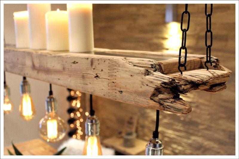 Retro Lampe Edison Aus Altem Bauholz Dieses Liebevoll Und