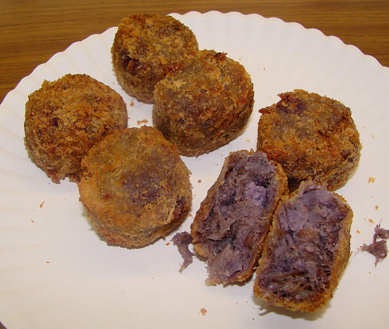 Kalua Pork Okinawan Sweet Potato Benimo Mini Cakes From Kahai