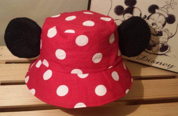 65284d4c788 Mickey Mouse Bucket Hat   Kids Disney Sun Hat   Mickey Ears Hat ...