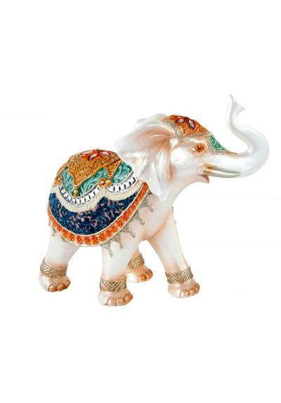 Figura De Elefante Con Trompa Hacia Arriba Representa La Buena Suerte Y La Prosperidad Y Nunca Deben Falta Elephant Figurines Handmade Elephant Elephant Decor