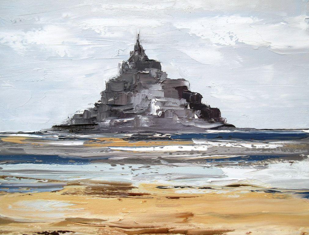 Des Regards Vers Le Large Peinture Originale Marine Du Mont St