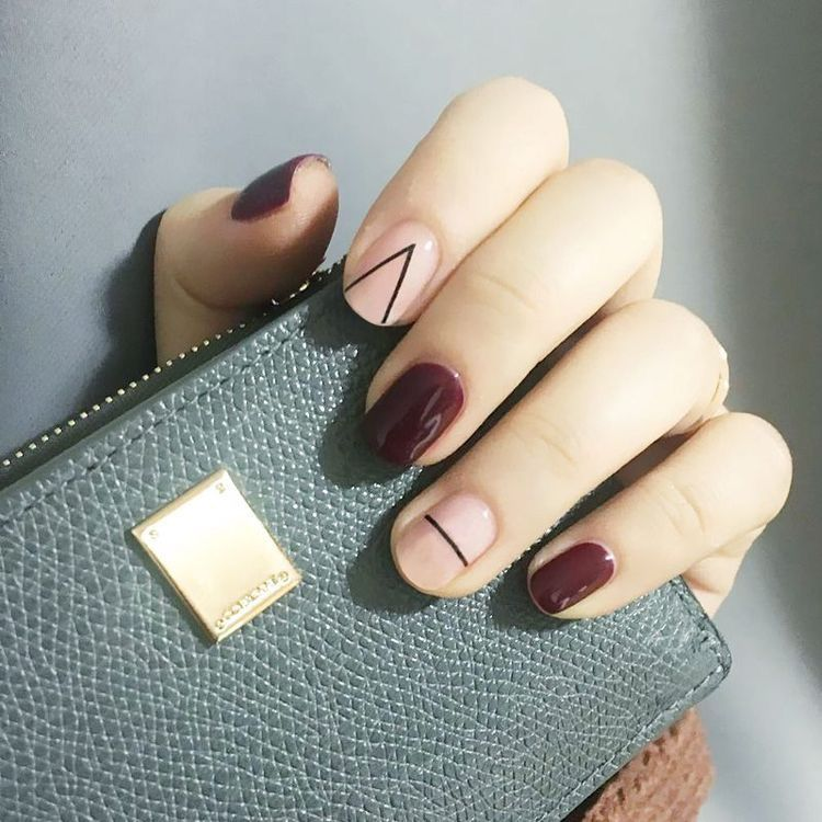 Minimal lines nail art | Nails | Pinterest | Minimal, Manicure and ...