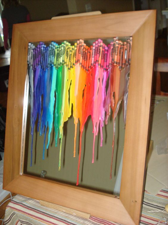 Another Melted Crayon Project Crayons On Glass