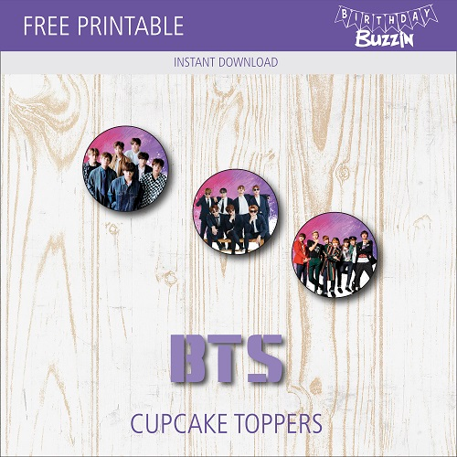 Free Printable Bts Cupcake Toppers Birthday Buzzin Cupcake Toppers Printable Bts Birthdays Cupcake Toppers