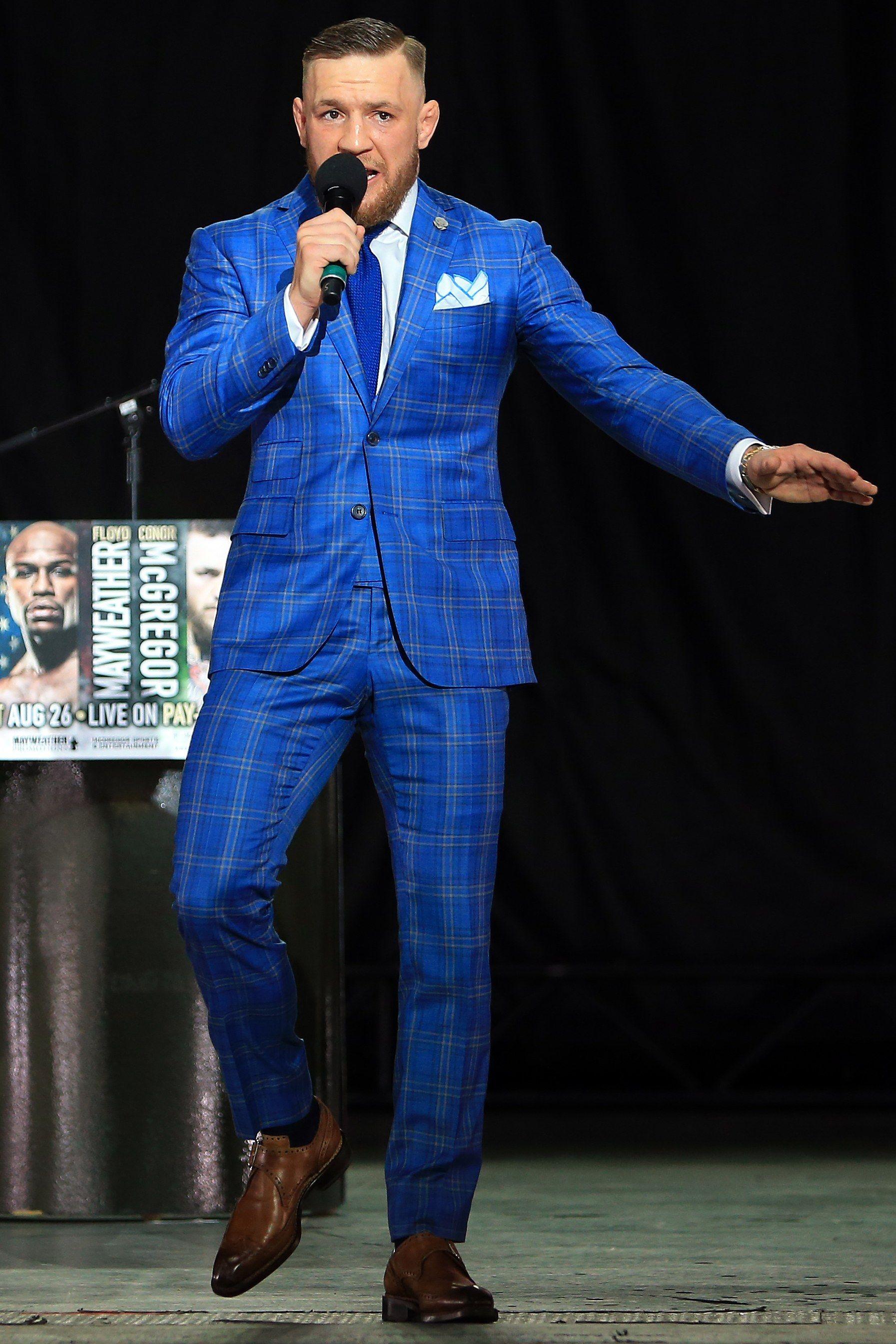 368afd99037086 The 10 Best-Dressed Men of the Week 7.17.17 | Conor McGregor | Blue ...