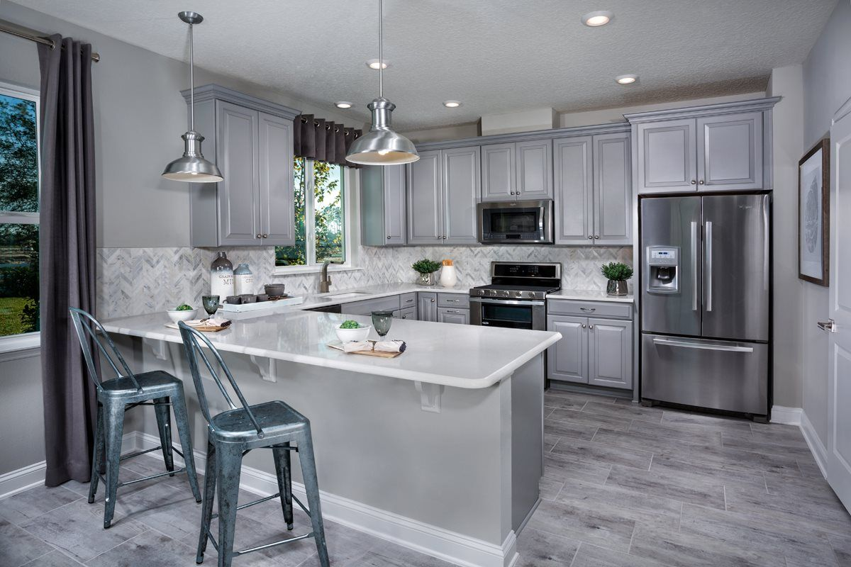 kitchen design jacksonville fl. There S Nothing Gloomy About This Sleek And Modern Grey Kitchen Simple  Design Jacksonville Fl Flooring Center