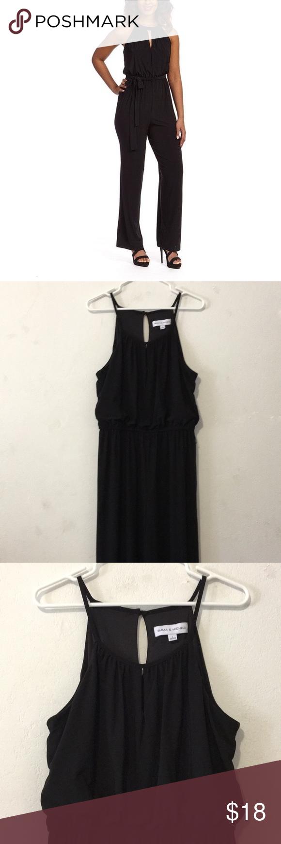 84fbc38b4eb Emma   Michele Elegant Black Halter Jumpsuit Size Large - Missing waistband  string - Otherwise in