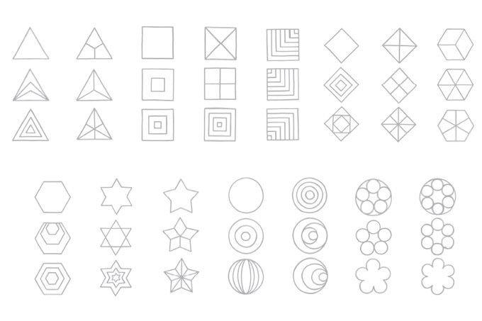 formenzeichnen geometrische formen pdf kita lernen pinterest geometrische formen k pfe. Black Bedroom Furniture Sets. Home Design Ideas