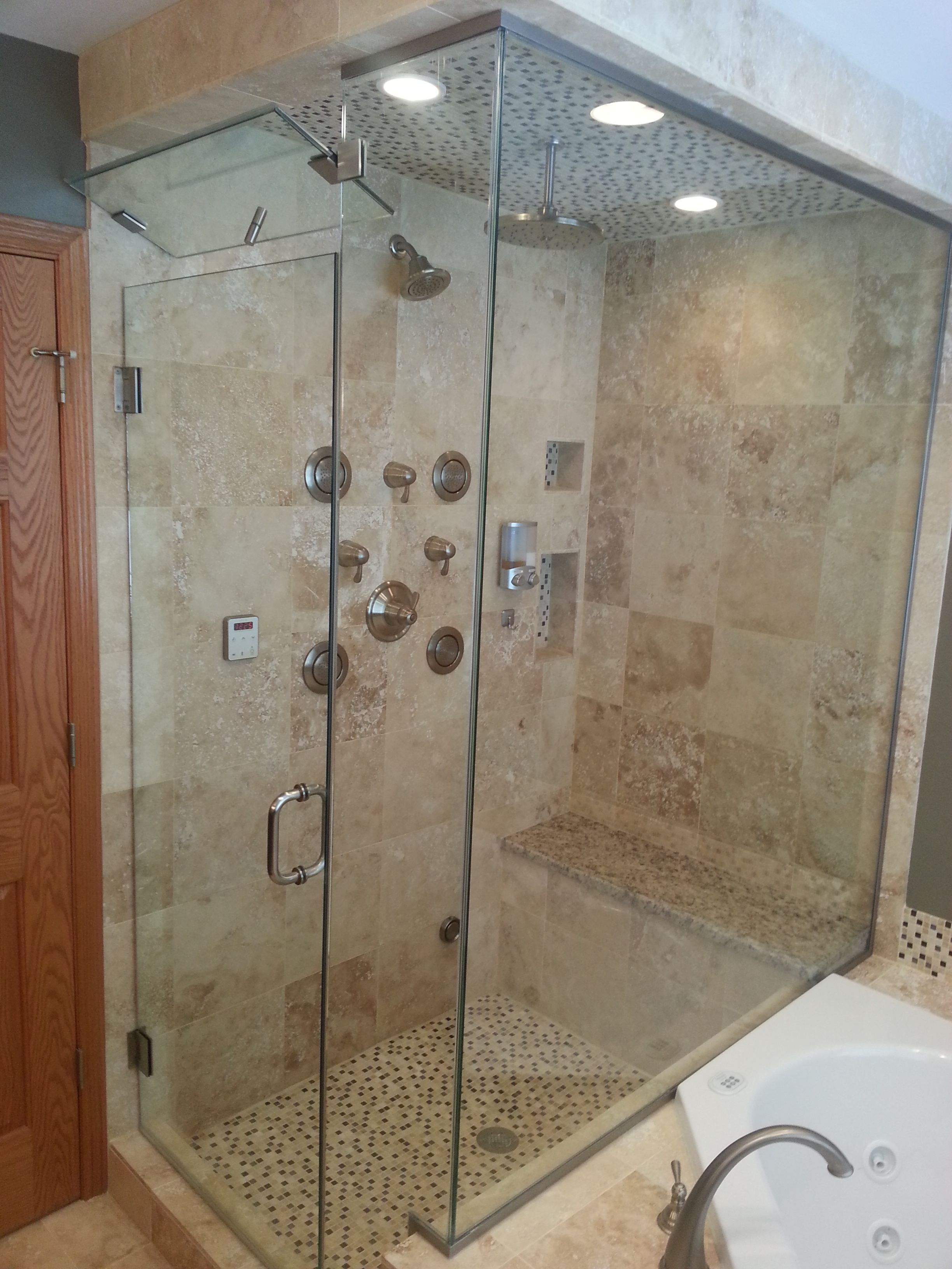 design modern shower and wall plus accessible accessories remodel showers handicap ideas cozy bathroom rain master tile your for systems
