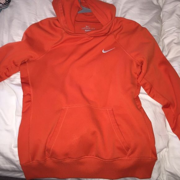 nike jumper orange