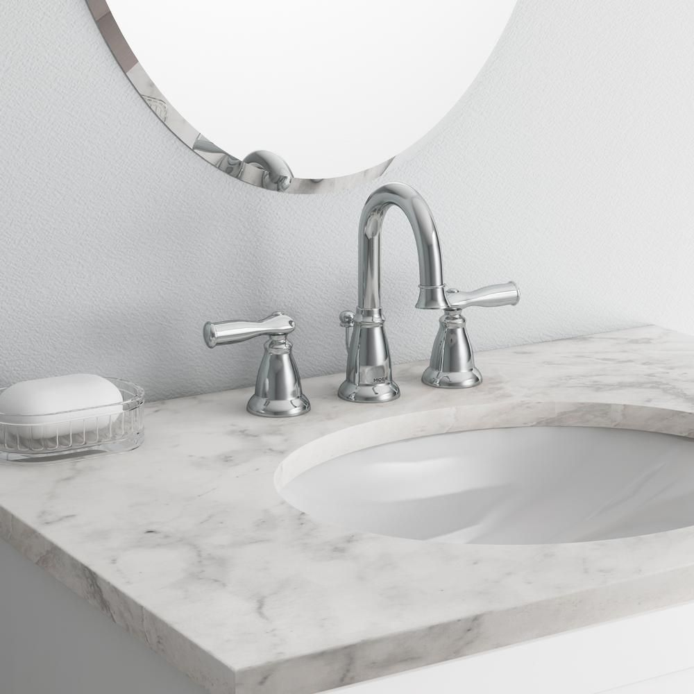 MOEN Banbury 8 in. Widespread 2-Handle Bathroom Faucet in Chrome ...