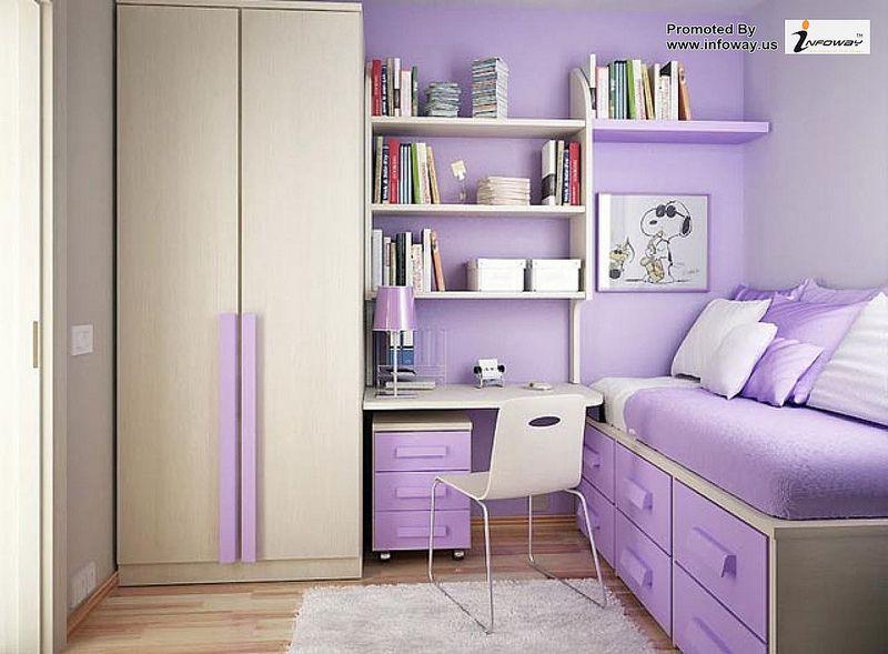 Small Bedroom Decorating Ideas For Teenage Girls Purple Bedroom