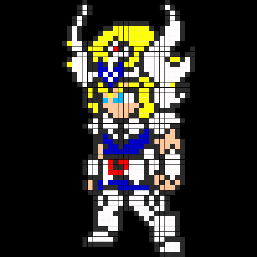 Swan Hyōga Saint Seiya Perler Bead Pattern Pixel Crochet