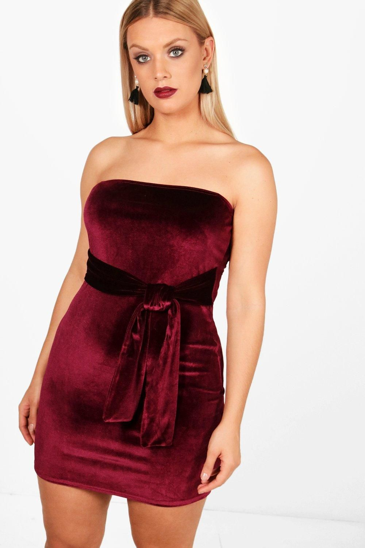 Cheap Women Plus Size Red Velvet Mini Dress 10 Ad Plussizeoutfits