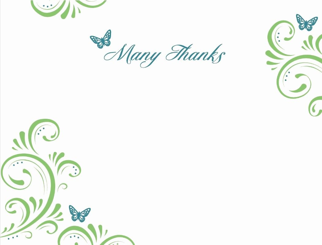 Template for Thank You Card Best Of 12 Best Thank You Card ...