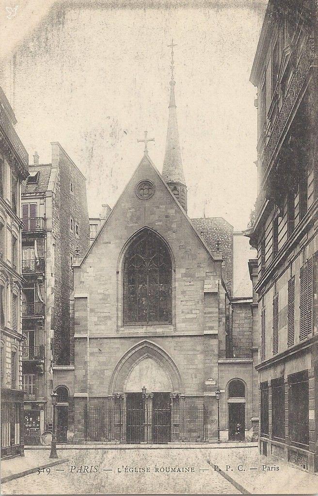 Paris 5e - Rue Jean de Beauvais - Eglise roumaine .