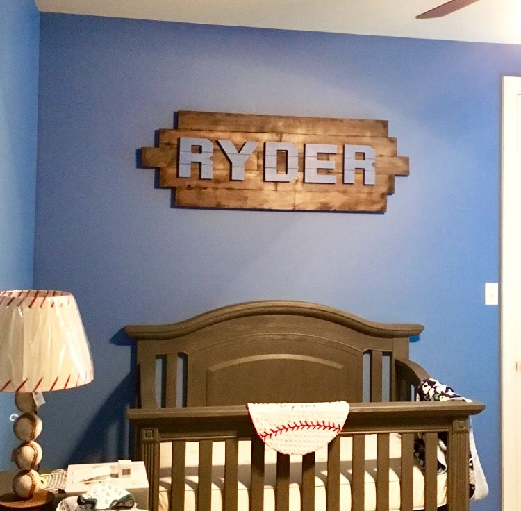 My Son S Handmade Wooden Name Sign Baby Nursery Boy Boyroom Infant