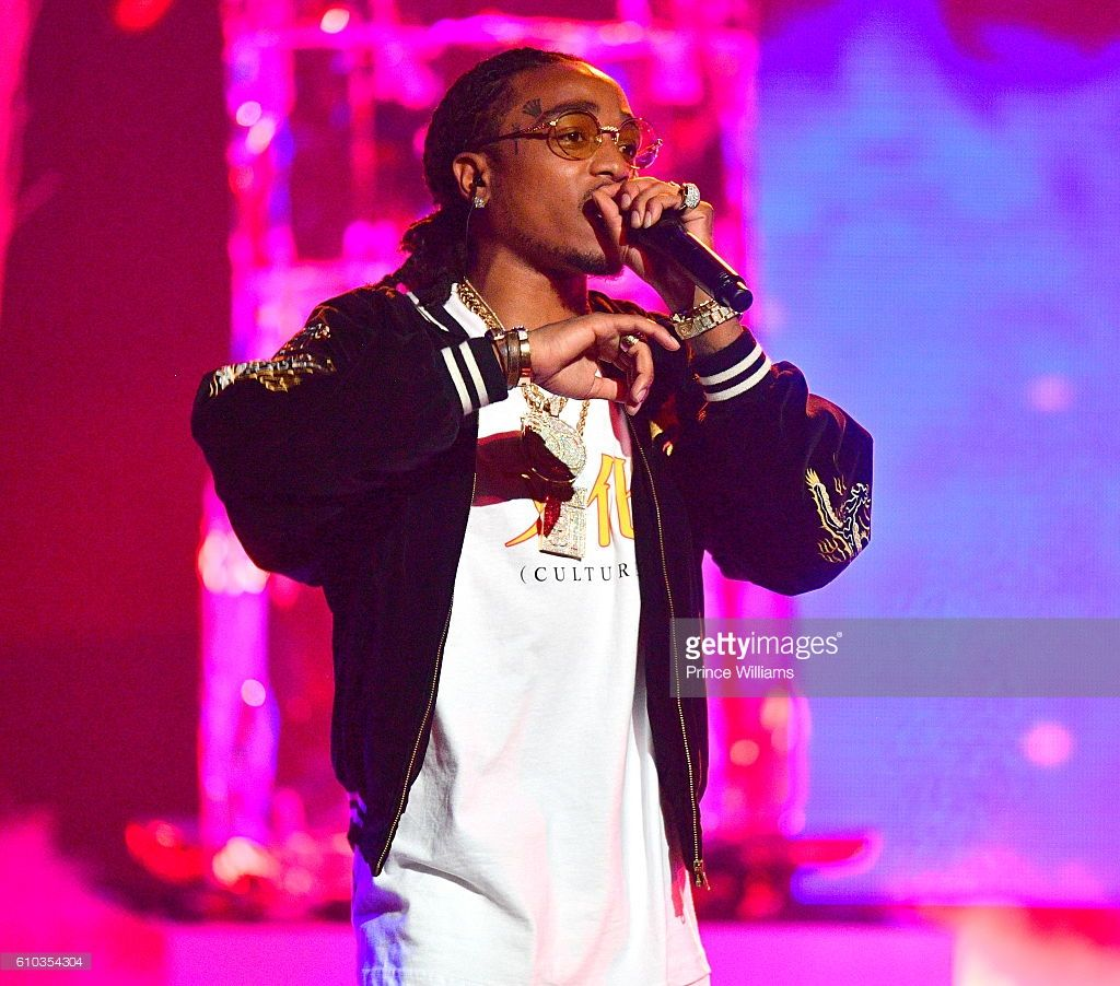 Quavo of the Group Migos performs at the BET Hip Hop Awards 2016 at Cobb Energy Performing Arts ...