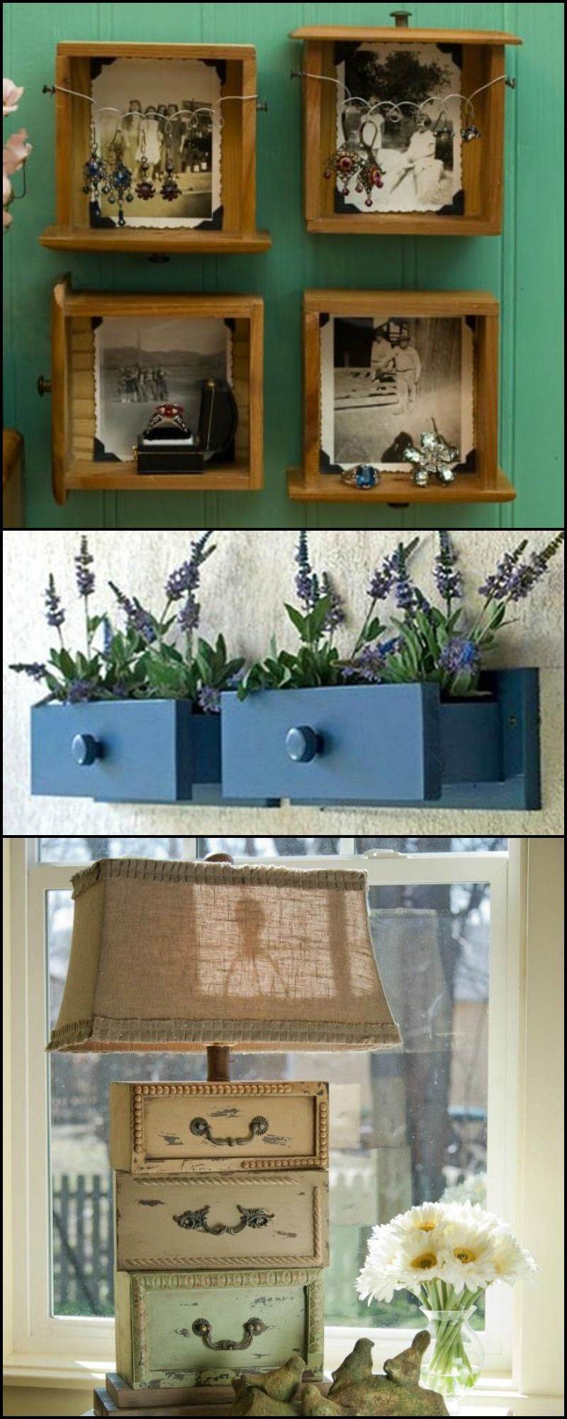 Genius ways to repurpose dresser drawers Old dresser